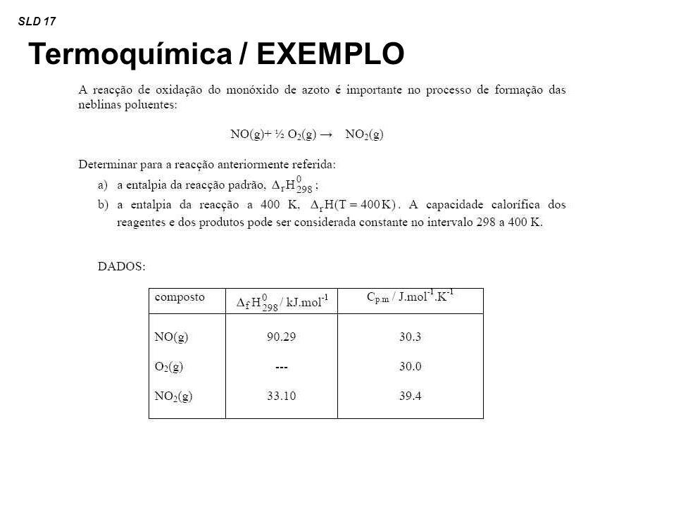 Termoquímica / EXEMPLO SLD 17