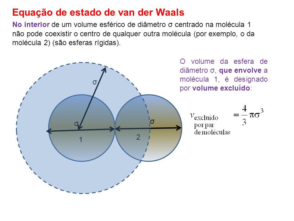 No interior de um volume esférico de diâmetro σ centrado na molécula 1 σ 1 2 σ não pode coexistir o centro de qualquer outra molécula (por exemplo, o