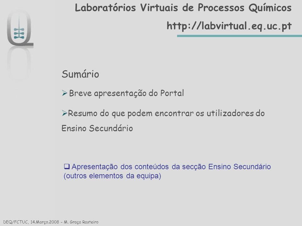 Laboratórios Virtuais de Processos Químicoshttp://labvirtual.eq.uc.pt Obrigada pela Atenção.