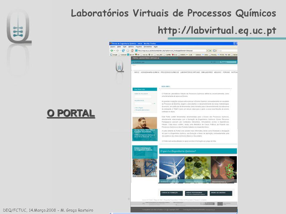 Reacção Química DEQ/FCTUC, 14.Março.2008 – Cristina Gaudêncio Processos Químicos/Reacção Química/Estudos Cinéticos