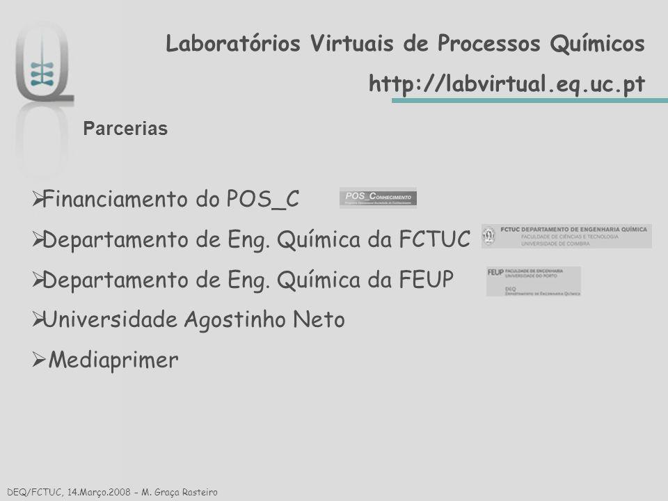 Laboratórios Virtuais de Processos Químicos http://labvirtual.eq.uc.pt Secção: Ensino Secundário Módulo: Física M.