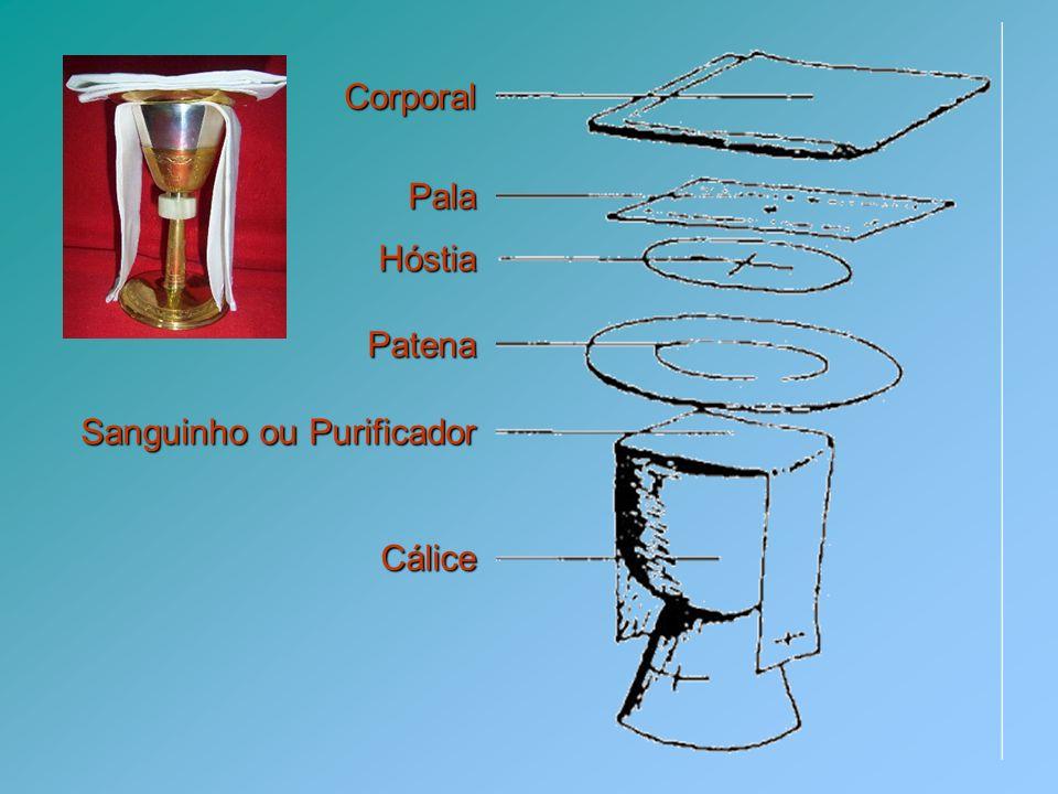 Outros objectos sagrados Purificador Pequeno vaso onde os Ministros Extraordinários da Comunhão purificam os dedos.