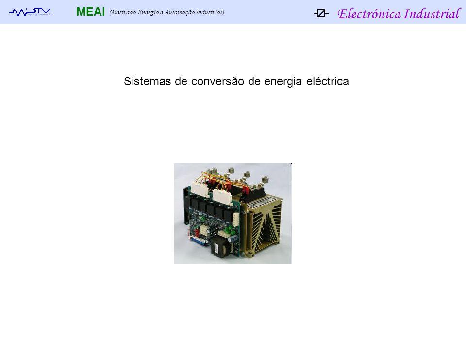 Electrónica Industrial MEAI (Mestrado Energia e Automação Industrial) Sistemas de conversão de energia eléctrica