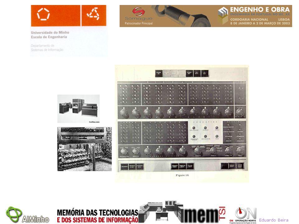 IBM 650: uma novidade, em 1954 (Dezembro) –Barato: só custava meio milhão USD –Pequeno: só ocupava uma sala –Simples: programado em decimal e não em binário –Simples: operado pelo programador –Lucrativo: o primeiro computador comercial bem rentável –Avançado: memória externa de tambores (drum memory) –Um sucesso: mais de 2000 máquinas instaladas