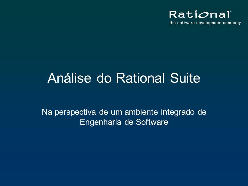 Análise do Rational Suite Na perspectiva de um ambiente integrado de Engenharia de Software