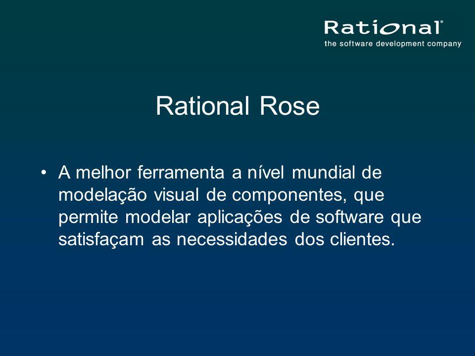 Rational Rose A melhor ferramenta a nível mundial de modelação visual de componentes, que permite modelar aplicações de software que satisfaçam as nec