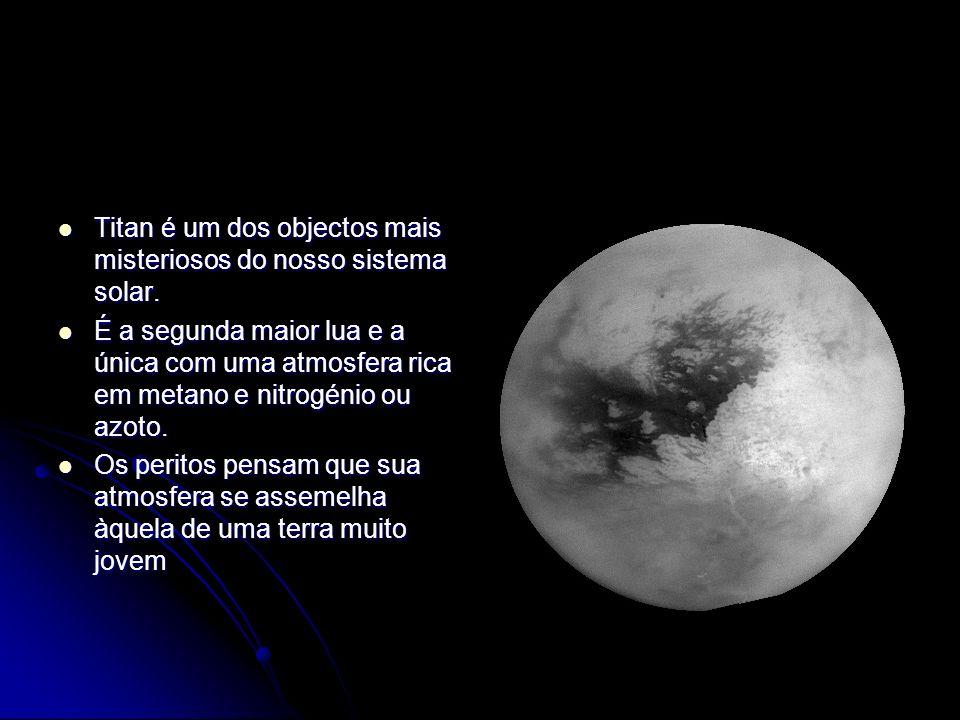Titan é um dos objectos mais misteriosos do nosso sistema solar. Titan é um dos objectos mais misteriosos do nosso sistema solar. É a segunda maior lu