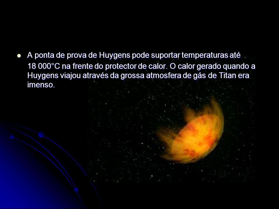 A ponta de prova de Huygens pode suportar temperaturas até A ponta de prova de Huygens pode suportar temperaturas até 18 000°C na frente do protector