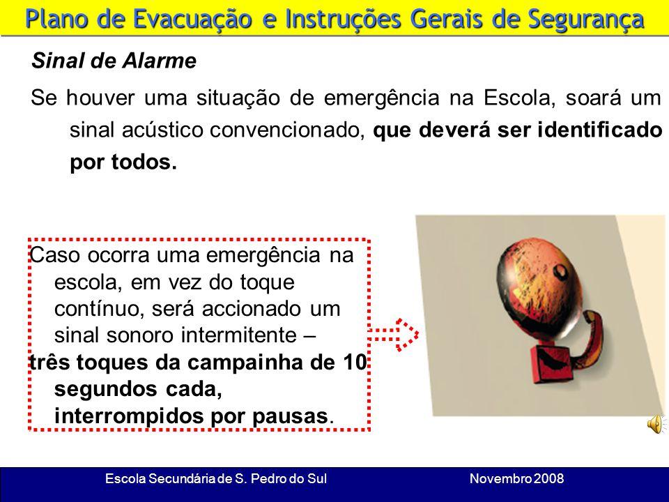 Escola Secundária de S. Pedro do Sul Novembro 2008 Plano de Evacuação e Instruções Gerais de Segurança