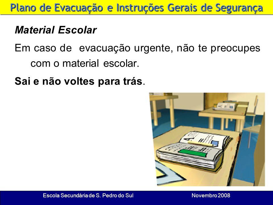 Escola Secundária de S. Pedro do Sul Novembro 2008 Chefe de Fila e Cerra-Fila A coordenação da evacuação é feita pelo professor e por um aluno previam