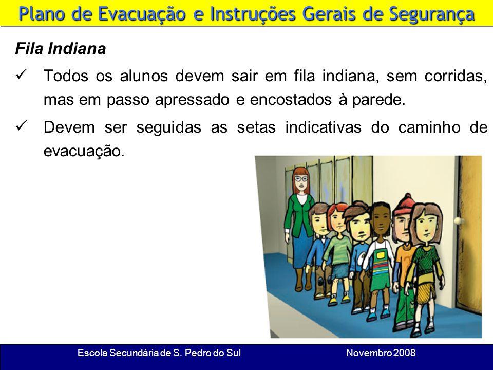 Escola Secundária de S. Pedro do Sul Novembro 2008 Material Escolar Em caso de evacuação urgente, não te preocupes com o material escolar. Sai e não v