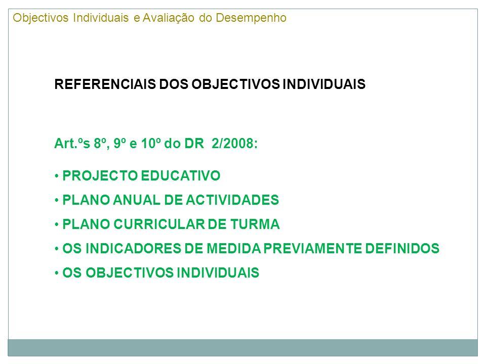 O que são e quais são os objectivos individuais.