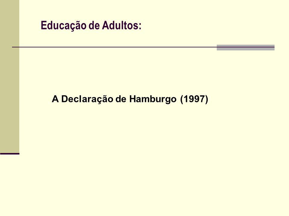 Educação de Adultos: A Ed.