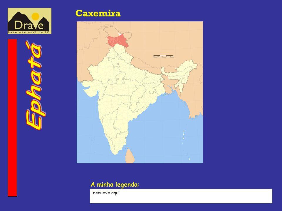 A minha legenda: Caxemira escreve aqui