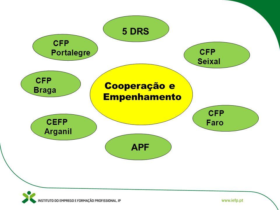 Cooperação e Empenhamento 5 DRS APF CFP Braga CFP Portalegre CEFP Arganil CFP Faro CFP Seixal APF