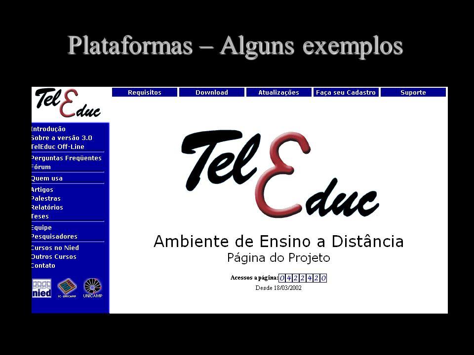 Plataformas – Alguns exemplos http://hera.nied.unicamp.br/teleduc