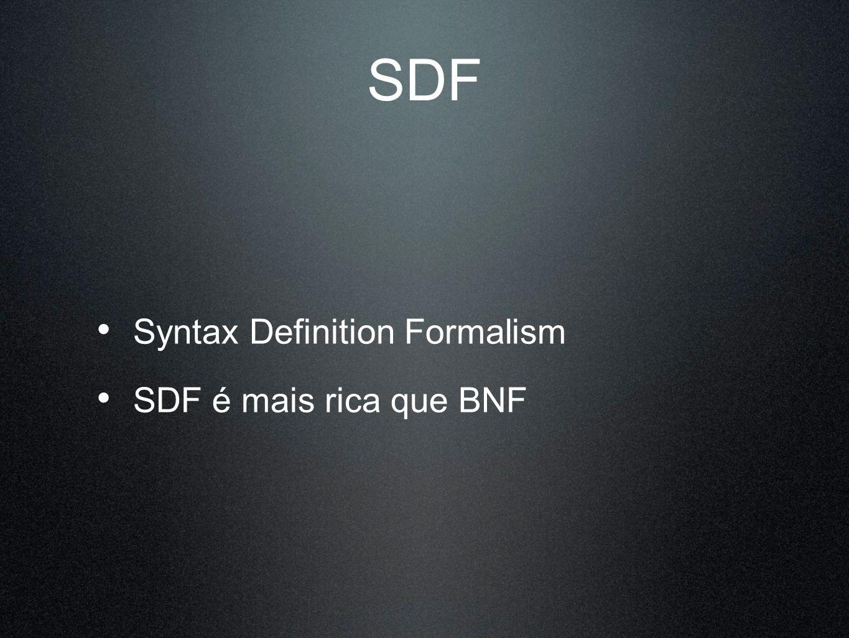 context-free syntax DECLARATION+ -> PROGRAM context-free syntax VARIABLE -> DECLARATION FUNCTION -> DECLARATION context-free syntax TYPE ID ; -> VARIABLE context-free syntax TYPE ID ( ( FORMALPARAMETER ( , FORMALPARAMETER)* ).