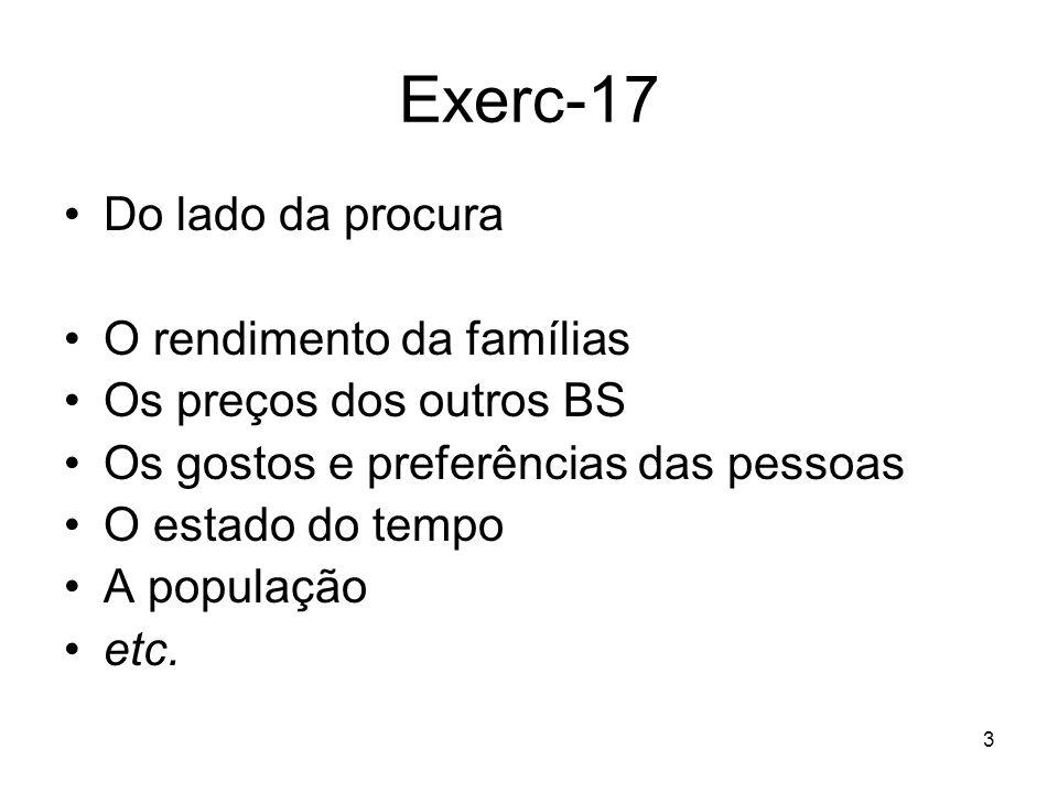 24 Exerc-18 O equilíbrio de concorrência perfeita retira-se da figura: P = 6 u.m.