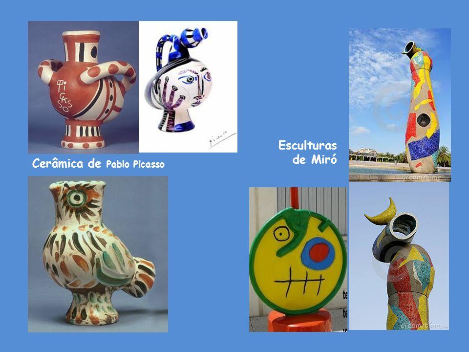 Cerâmica de Pablo Picasso Esculturas de Miró