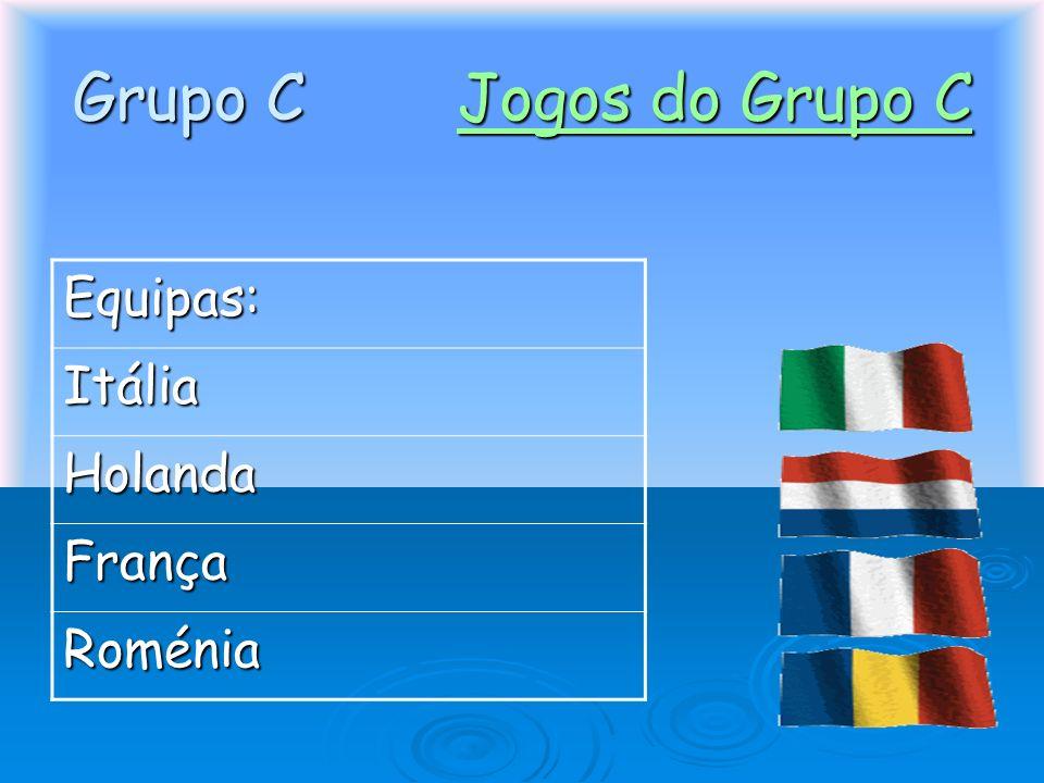 Grupo C Jogos do Grupo C Jogos do Grupo CJogos do Grupo C Equipas: Itália Holanda França Roménia
