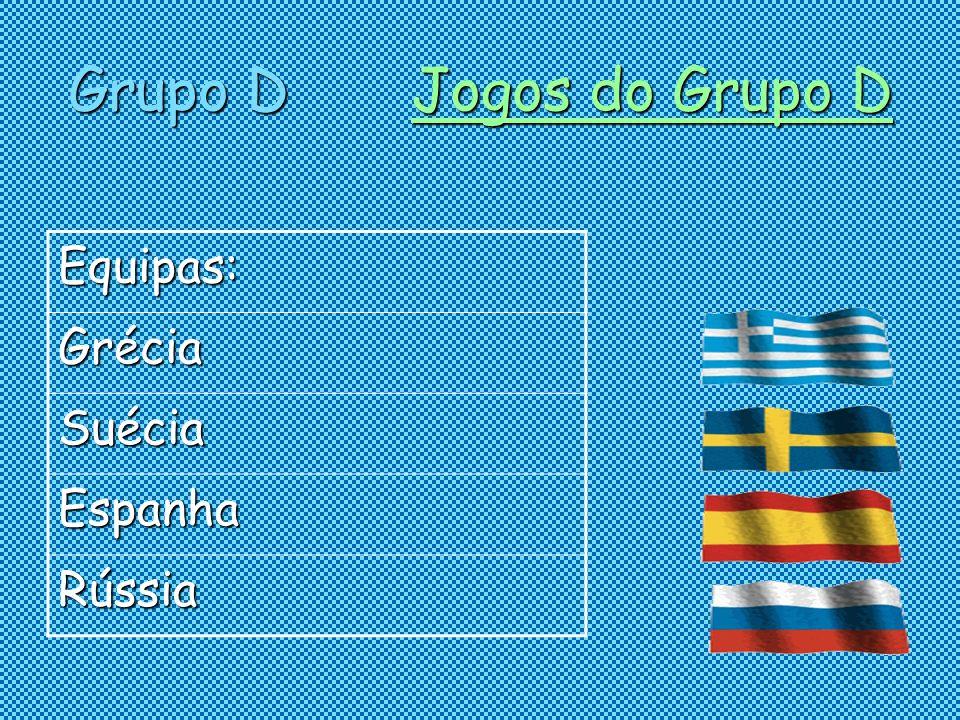 Grupo D Jogos do Grupo D Jogos do Grupo DJogos do Grupo D Equipas: Grécia Suécia Espanha Rússia