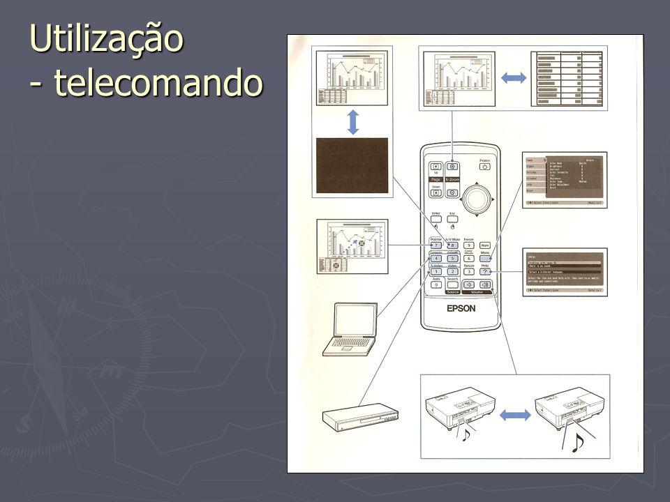 Utilização - telecomando