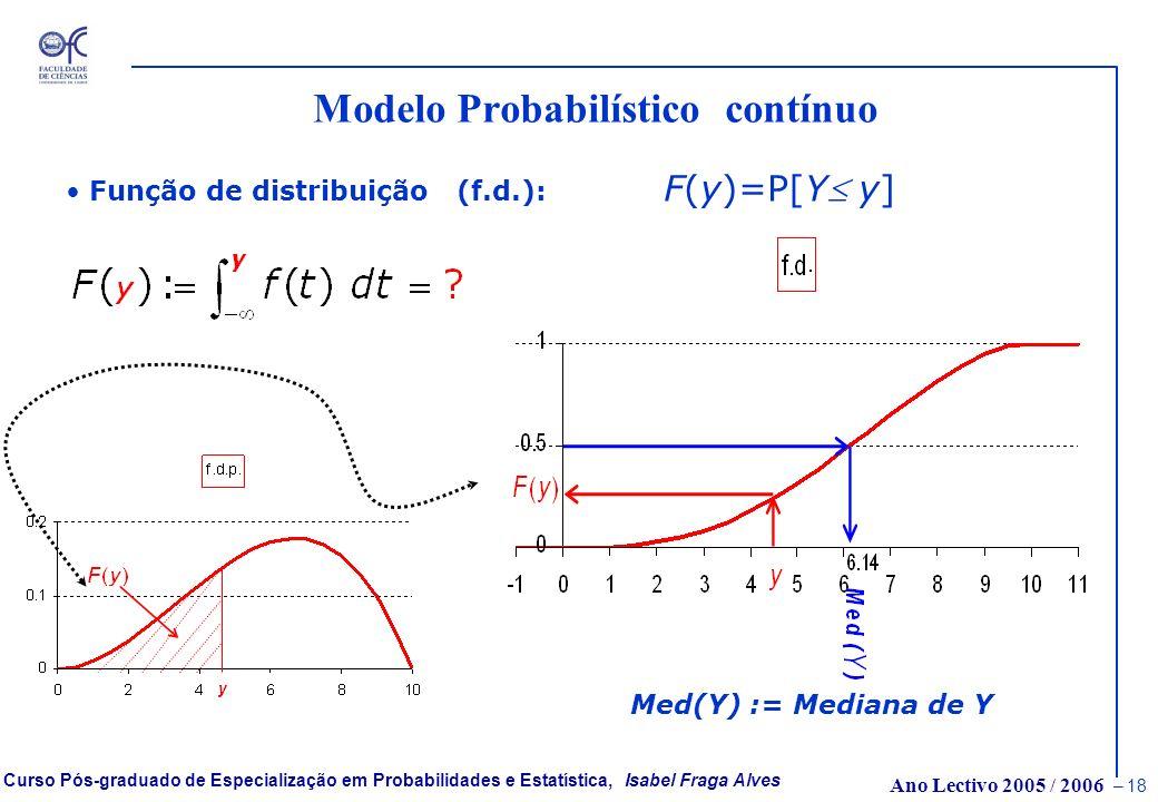 Ano Lectivo 2005 / 2006 – 17 Curso Pós-graduado de Especialização em Probabilidades e Estatística, Isabel Fraga Alves As distribuições the Valores Ext