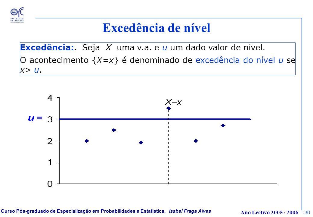 Ano Lectivo 2005 / 2006 – 35 Curso Pós-graduado de Especialização em Probabilidades e Estatística, Isabel Fraga Alves p-quantis para Modelos com Local