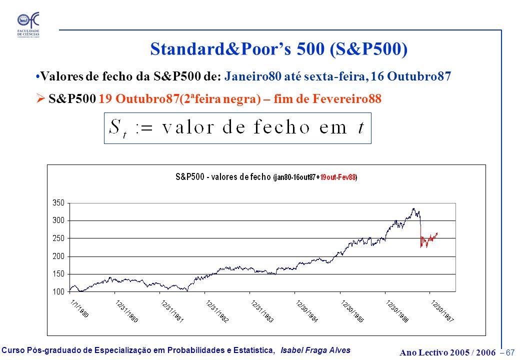 Ano Lectivo 2005 / 2006 – 66 Curso Pós-graduado de Especialização em Probabilidades e Estatística, Isabel Fraga Alves Caudas Pesadas, Índice de Cauda