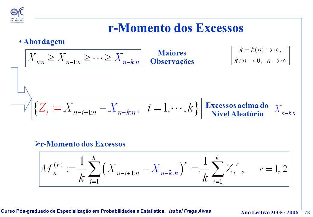 Ano Lectivo 2005 / 2006 – 77 Curso Pós-graduado de Especialização em Probabilidades e Estatística, Isabel Fraga Alves Peaks Over Random Threshold - PO