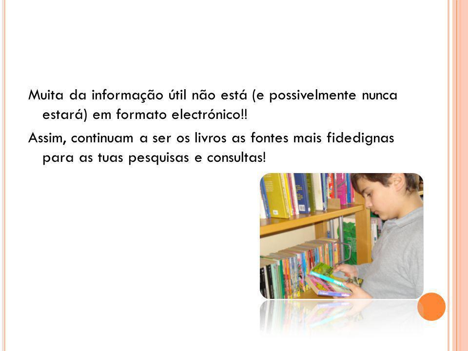 Biblioteca informatizada Objectivo Permitir o acesso mais rápido à informação.
