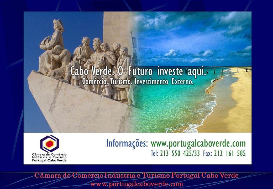 Câmara de Comércio Indústria e Turismo Portugal Cabo Verde www.portugalcaboverde.com INCENTIVOS ESPECÍFICOS Estatuto Industrial, Decreto-Lei Nº 108/89, de 30 de Dezembro Exportações e Reexportações, Decreto-Lei Nº 92/IV/93, de 15 de Dezembro Lei das Empresas Francas, Decreto-Lei Nº 99/IV/93, de 31 de Dezembro Lei da Utilidade Turística, Decreto-Lei Nº55/IV/2005, de 10 de Janeiro (revogou Decreto-Lei 42/IV/92, de 06 de Abril)