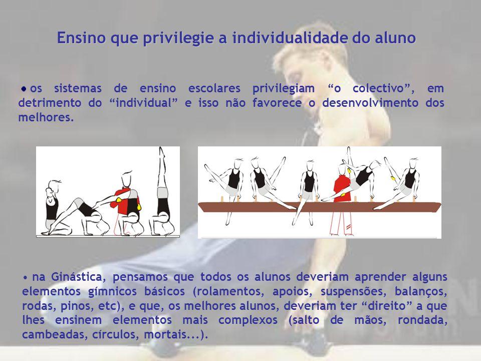 Ensino que privilegie a individualidade do aluno os sistemas de ensino escolares privilegiam o colectivo, em detrimento do individual e isso não favor