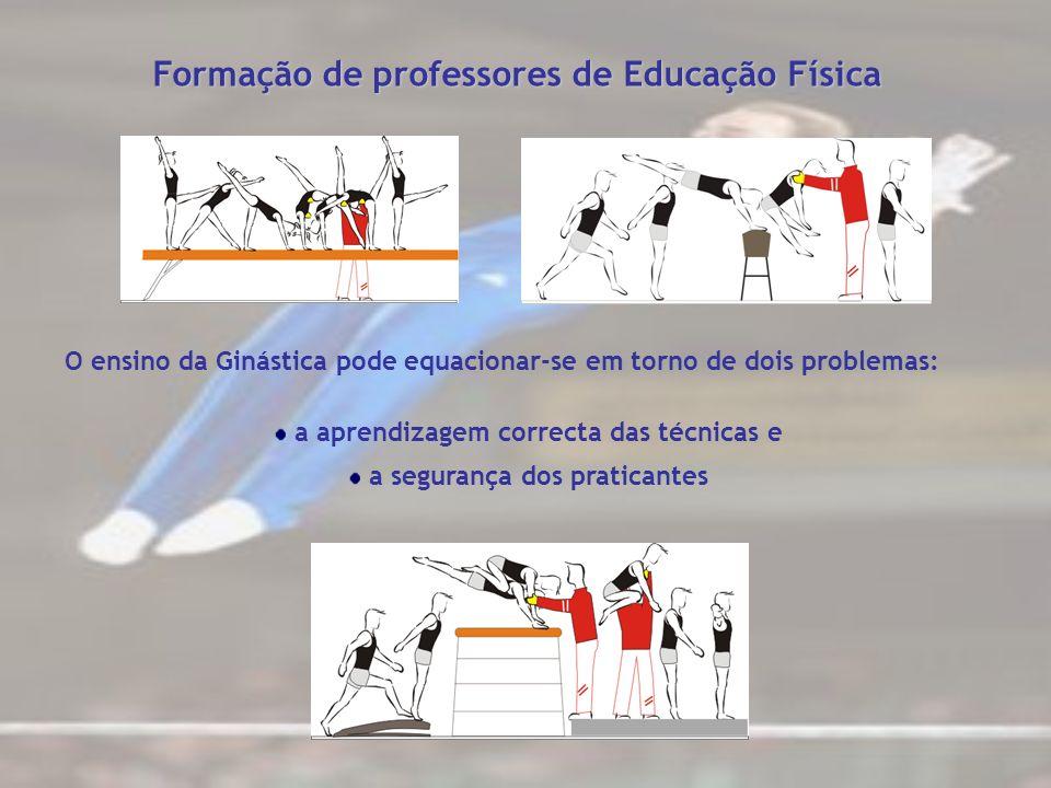 Formação de professores de Educação Física O ensino da Ginástica pode equacionar-se em torno de dois problemas: a aprendizagem correcta das técnicas e