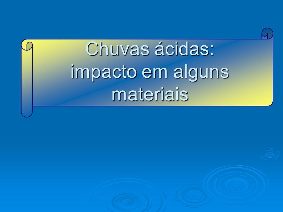 Chuvas ácidas: impacto em alguns materiais