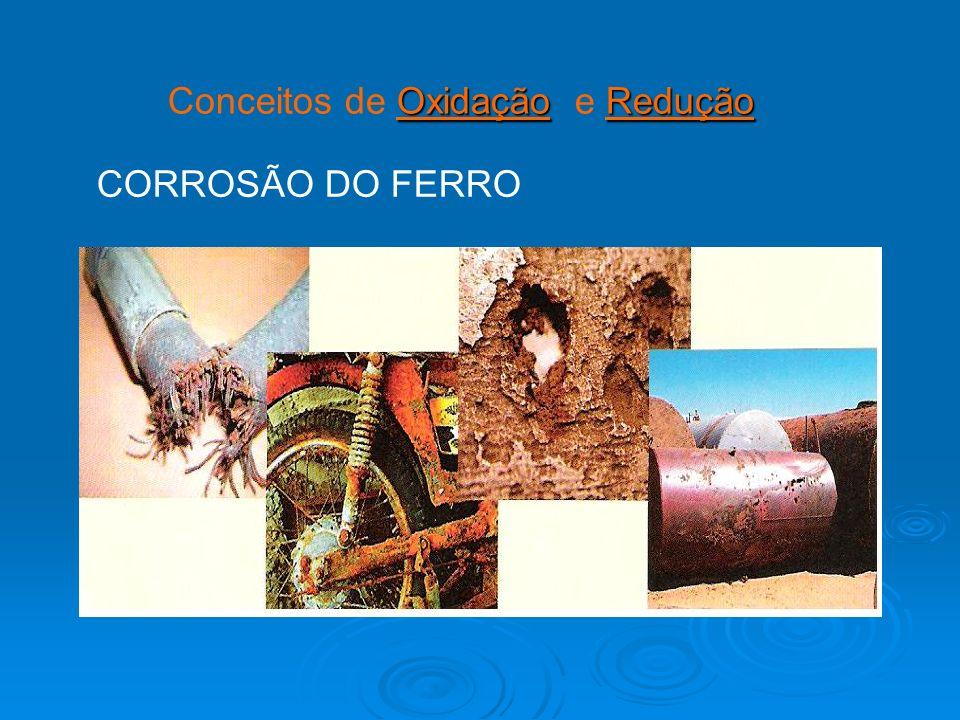 OxidaçãoRedução Conceitos de Oxidação e Redução CORROSÃO DO FERRO