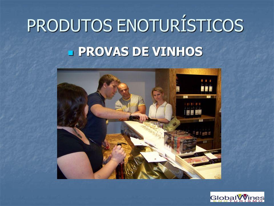 PRODUTOS ENOTURÍSTICOS PROVAS DE VINHOS PROVAS DE VINHOS