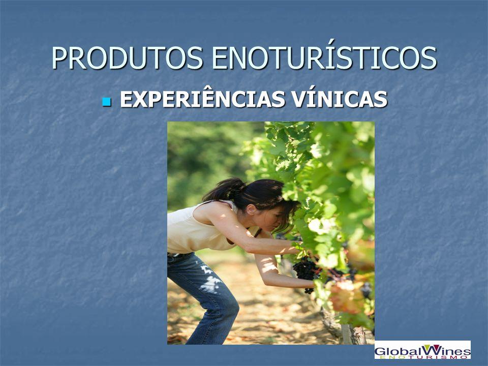 PRODUTOS ENOTURÍSTICOS EXPERIÊNCIAS VÍNICAS EXPERIÊNCIAS VÍNICAS