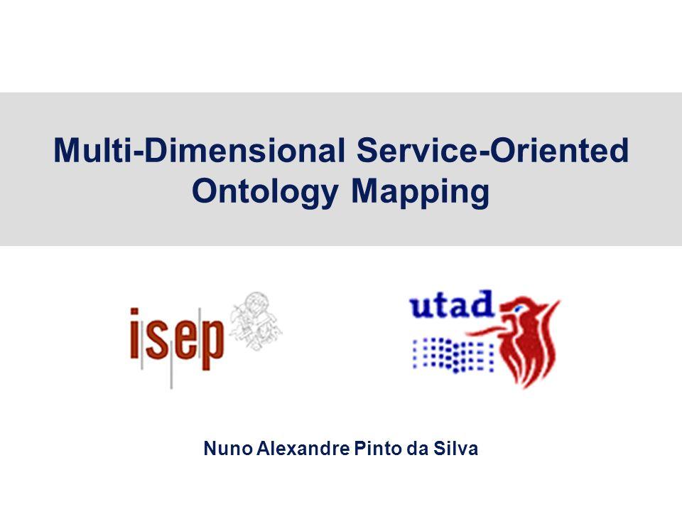 Multi-Dimensional Service-Oriented Ontology Mapping Nuno Alexandre Pinto da Silva
