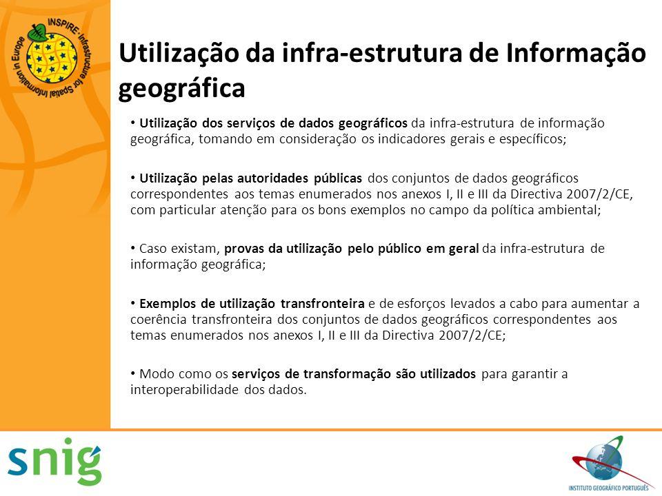 Utilização da infra-estrutura de Informação geográfica Utilização dos serviços de dados geográficos da infra-estrutura de informação geográfica, toman