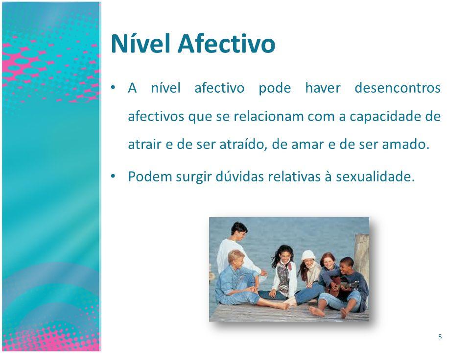 Nível Social 6 Nesta fase da adolescência há o perigo de o adolescente adquirir o hábito de se refugiar em si mesmo.