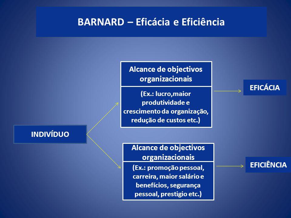 INDIVÍDUO Alcance de objectivos organizacionais (Ex.: lucro,maior produtividade e crescimento da organização, redução de custos etc.) (Ex.: promoção p