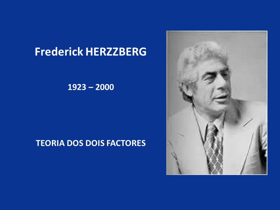 Frederick HERZZBERG 1923 – 2000 TEORIA DOS DOIS FACTORES
