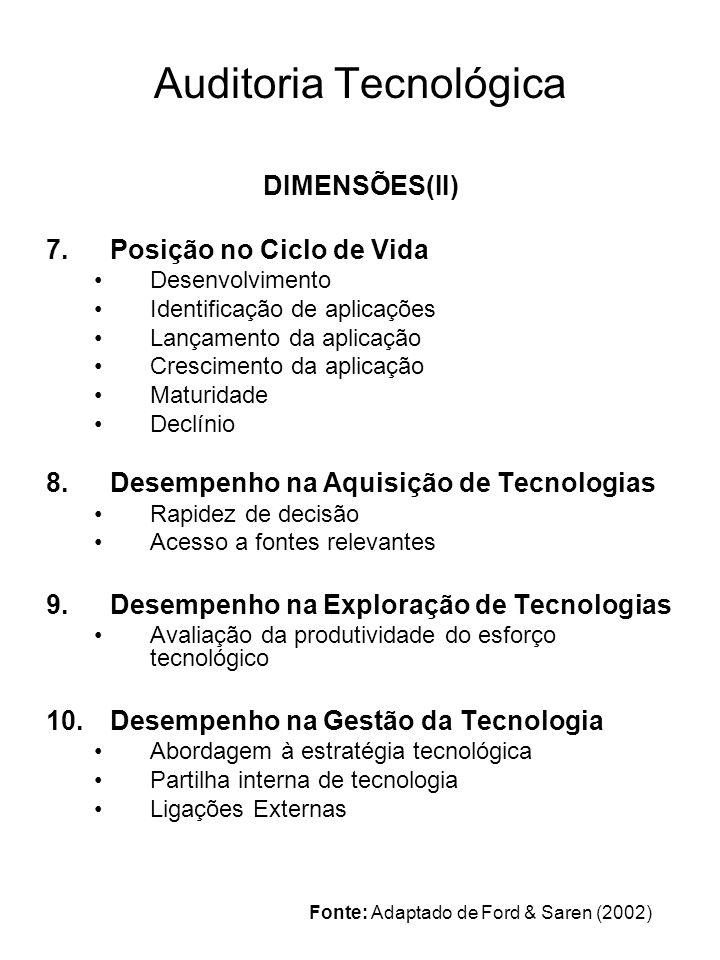 5.3. SELECÇÃO DE TECNOLOGIAS