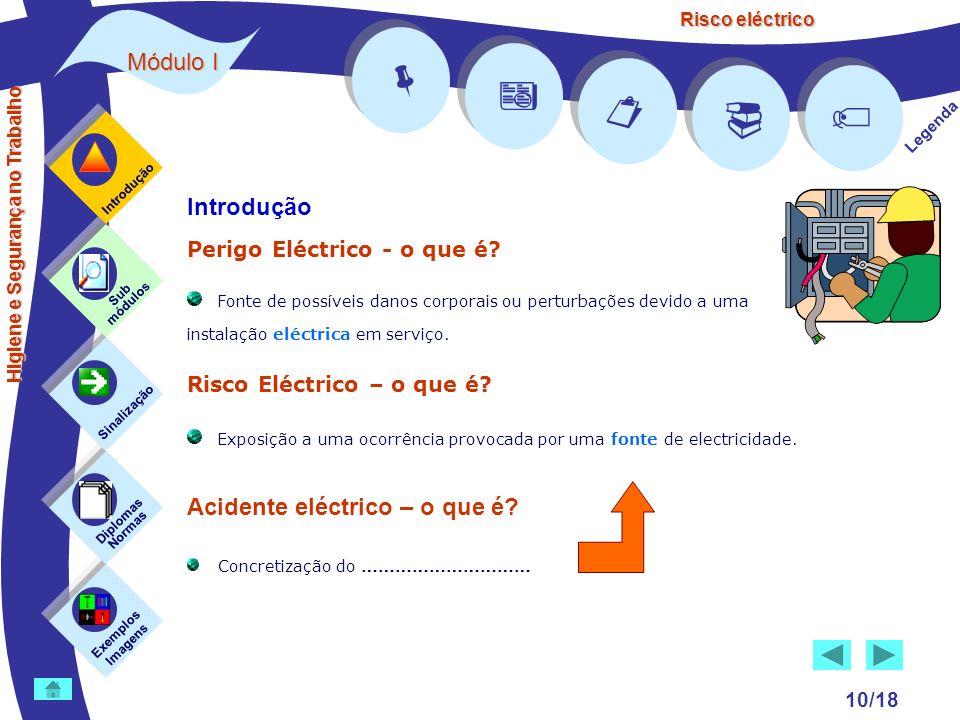 Risco eléctrico 10/18 Introdução Perigo Eléctrico - o que é? Fonte de possíveis danos corporais ou perturbações devido a uma instalação eléctrica em s