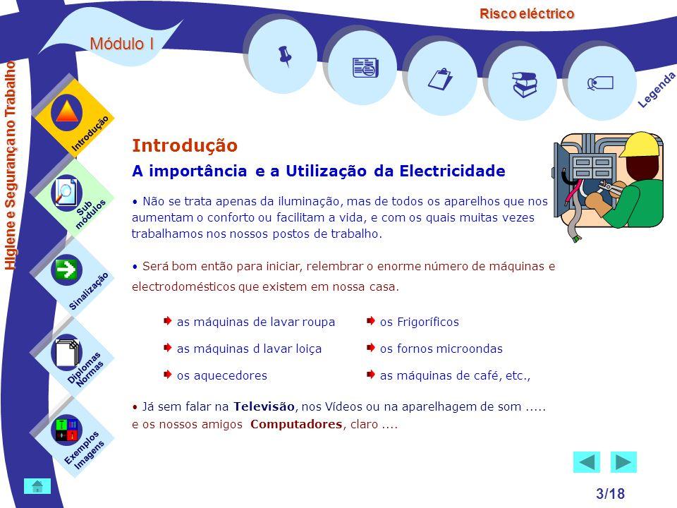 Risco eléctrico 3/18 Introdução A importância e a Utilização da Electricidade Não se trata apenas da iluminação, mas de todos os aparelhos que nos aum