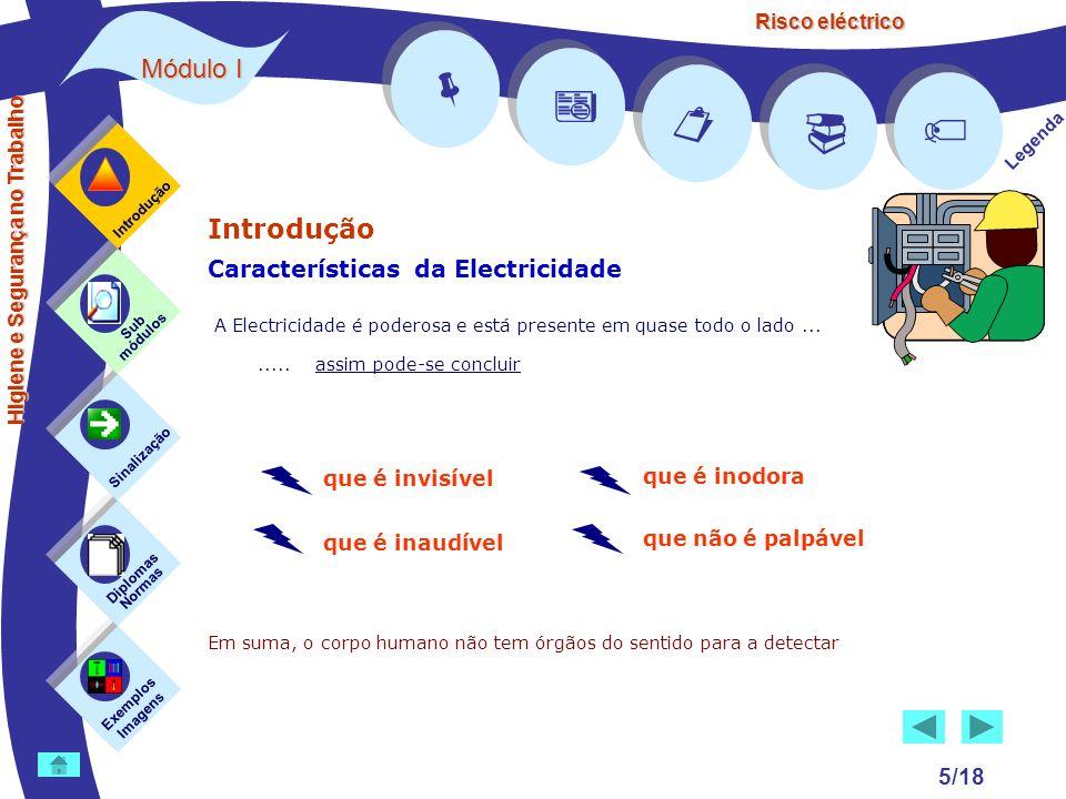 Risco eléctrico 5/18 Introdução Características da Electricidade A Electricidade é poderosa e está presente em quase todo o lado........ assim pode-se