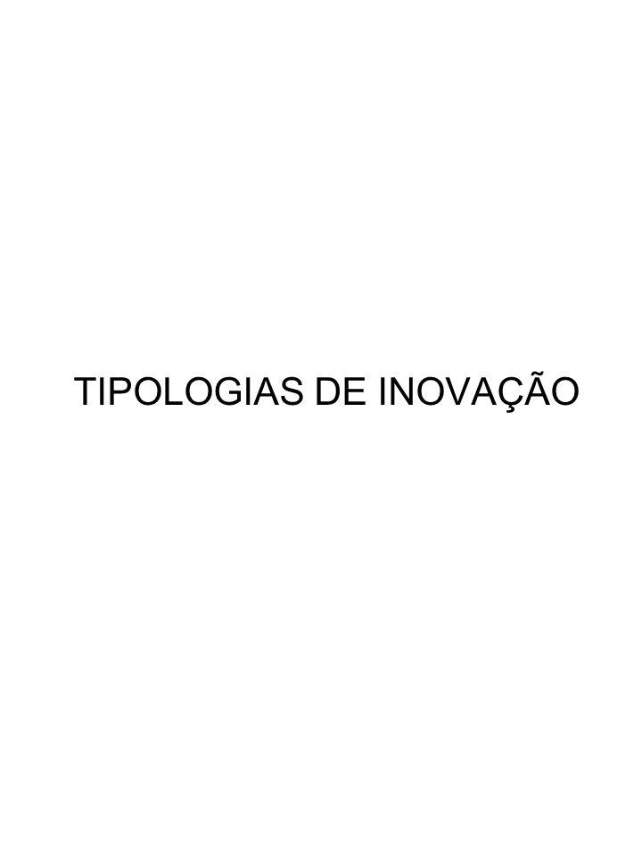 TIPOLOGIAS DE INOVAÇÃO