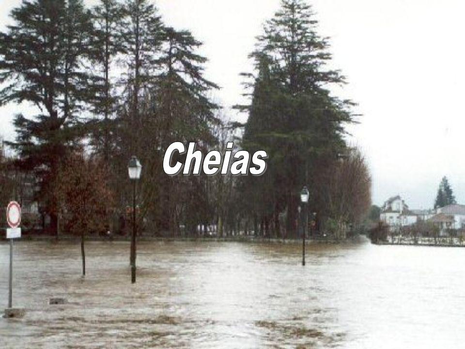 As cheias são fenómenos naturais extremos e temporários, provocados por precipitações moderadas e permanentes ou por precipitações repentinas e de elevada intensidade.