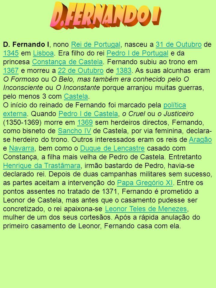 O início do reinado de Fernando morreu D.